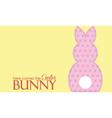 Single easter pink rabbit wording vector image