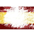Spanish flag Grunge background vector image vector image