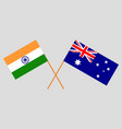 the australian and indian flags vector image vector image