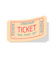 ticket entry admission coupon vector image vector image