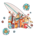 Travel Bags and Suitcases Hand Drawn vector image vector image