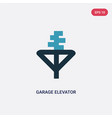 two color garage elevator icon from mechanicons vector image vector image