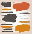 Underlining ink samples vector image vector image