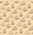 vintage ships seamless pattern antique boats vector image vector image