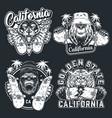 vintage skateboarding logotypes vector image vector image