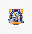 volleyball tournament logo vector image