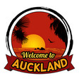 welcome to auckland concept in vintage graphic vector image vector image
