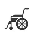 wheel chair healthcare and medical related solid vector image