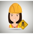 woman worker symbol danger vector image