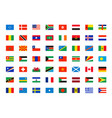 world flags symbols all world countries map vector image vector image
