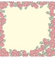 Frame from pink roses vector image