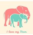 Mothers day elephants vector image