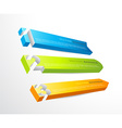 3 horizontal banners with numbers and place for vector image vector image