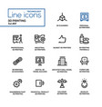 3d printing - line design icons set vector image vector image