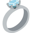 a ring with a diamond vector image vector image