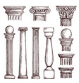 arabic architecture engraved columns vector image