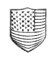 badge with flag united states of america vector image vector image