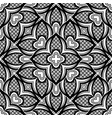 black and white seamless pattern with mosaic vector image vector image