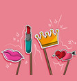 booth prop sticks party vector image