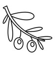 Branch olives icon outline style