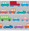 cars on road pattern vector image vector image