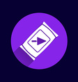 cement bag icon button logo symbol vector image vector image