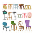 chair comfortable furniture stool bar-chair vector image