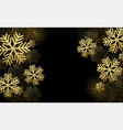 christmas card with gold snowflakes vector image vector image