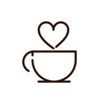 coffee cup love drink traditonal line design vector image