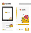 company application design with logo and company vector image