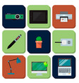 computer office equipment technic gadgets modern vector image vector image