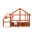 construction workers characters wearing workwear vector image vector image