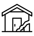 cracked house icon outline style vector image vector image