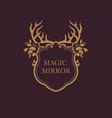 creative emblem of the magic mirrorantler vector image vector image