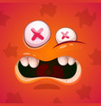 cute funny crazy monster character halloween vector image vector image