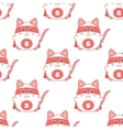 Cute seamless pattern with cat superman vector image
