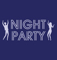 dancing people night party entertainment vector image vector image