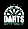 darts label badge logo sporting symbols vector image vector image