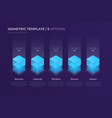 design with isometric elements template vector image vector image