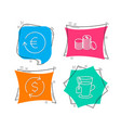 dollar exchange exchange currency and banking vector image vector image