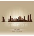 Dubai United Arab Emirates skyline city silhouette vector image vector image