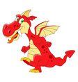 fantastic dragon vector image vector image