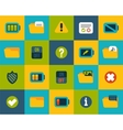 Flat icons set 10 vector image vector image