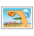 florida greetings vector image vector image