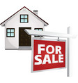 for sale home vector image vector image