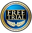 Free Trial Blue Emblem vector image vector image