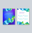 geometric abstract brochure design facet vector image vector image