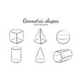 geometric shapes set 3 vector image vector image