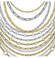 golden chain neck lace isolated on white vector image