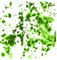 Green splashes and streaks of ink on paper vector image vector image